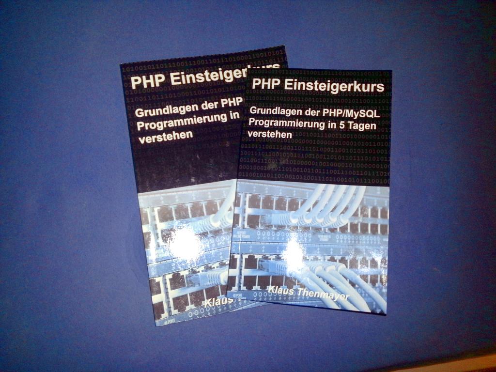 PHP Einsteigerkurs als Taschenbuch - Entwurfsexemplare